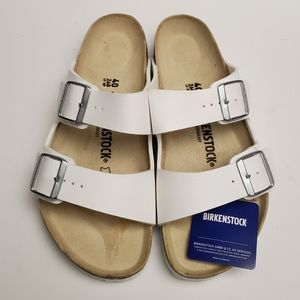 Birkenstock Arizona White Sandals 40